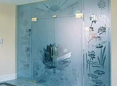 Стеклянные межкомнатные двери в интерьере (фото)