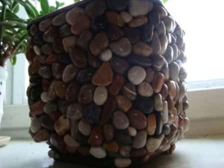 Декор цветочных горшков своими руками (фото)
