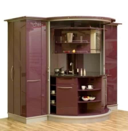Маленькая кухня в хрущевке - фото интерьера