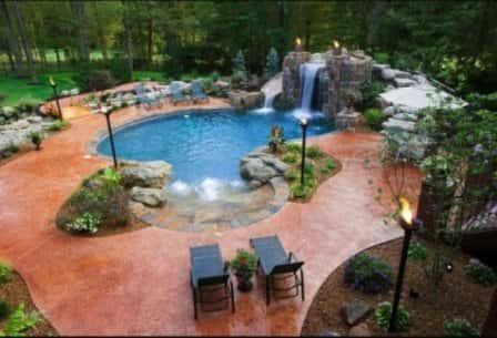 Оформление участка с бассейном - красивые идеи