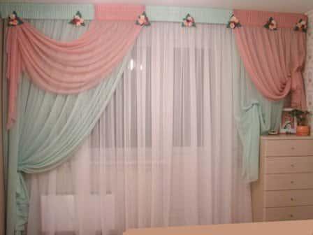 Шторы для спальни из вуали
