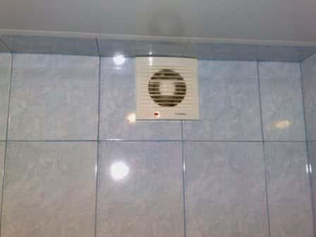 Принудительная вентиляция ванной комнаты