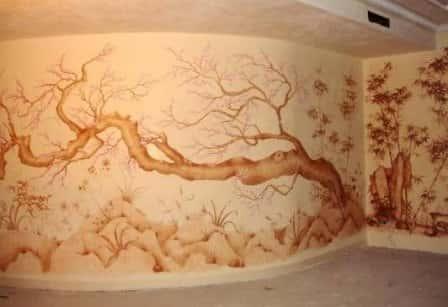 Роспись стен в интерьере – стильный декоративный элемент