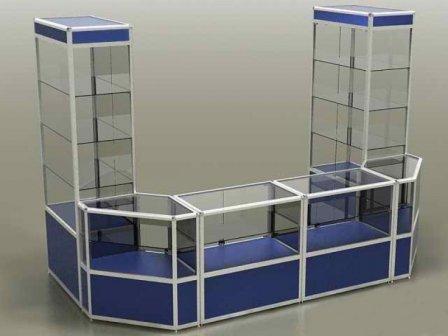 Торговое оборудование - стеклянные прилавки