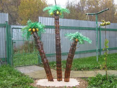 Как сделать пальму из пластиковых бутылок