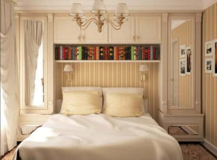 Дизайн интерьера для небольшой спальни