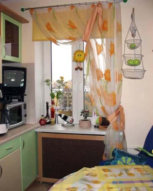 Шторы на маленькую кухню своими руками фото