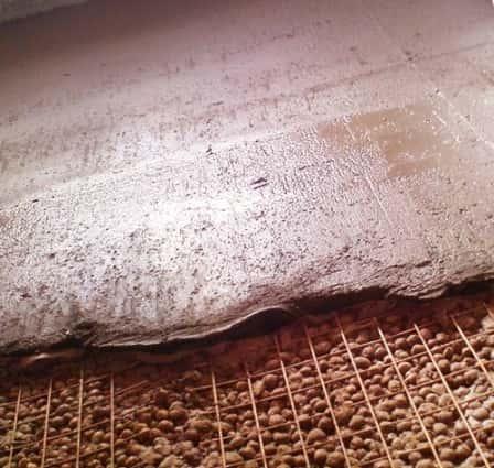 Заливка пола на даче с керамзитом