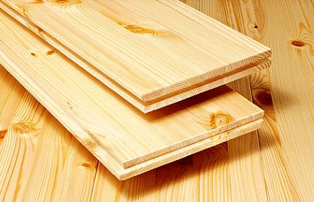Шпунтованная доска из лиственницы и других пород дерева