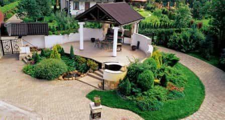 Озеленение и благоустройство придомовой территории частного дома
