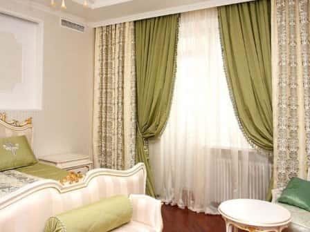 Выбираем шторы для спальни + фото