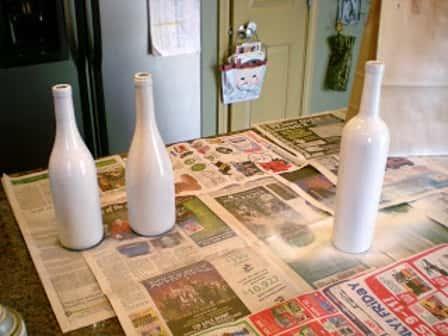 Декорирование винных бутылок к Новому году - мастер-класс