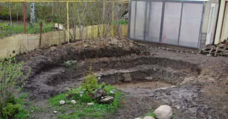 Как самому выкопать пруд на даче