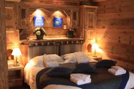 Как создать интерьер спальной комнаты в стиле шале?