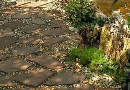 Каменный дизайн сада