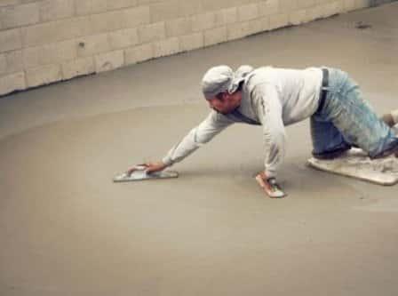 Железнение бетонного пола своими руками