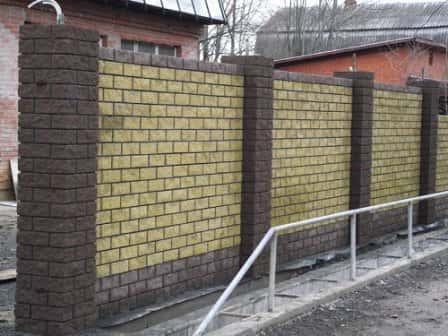 """Заборные блоки """"под рваный камень"""""""