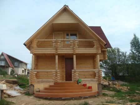 Бани и дома из оцилиндрованного бревна – классика для вас