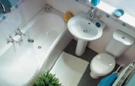 """Как """"увеличить"""" маленькую ванную комнату?"""