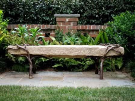 Садовые скамейки в ландшафтном дизайне