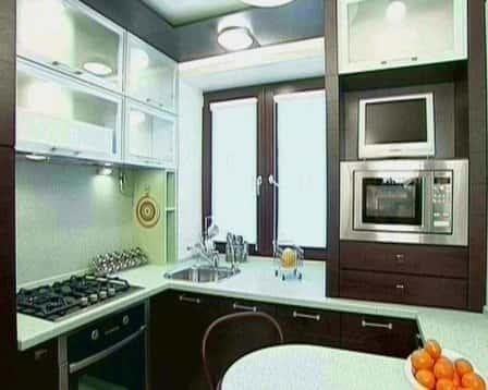 Как обустроить кухню 6 кв. метров