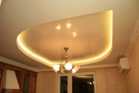 Подсветка для натяжного потолка в доме