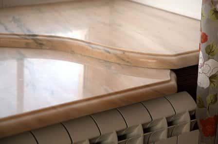 Шикарные подоконники из натурального мрамора и гранита