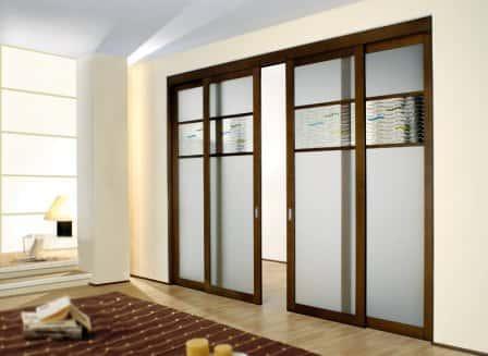 Использование раздвижных межкомнатных дверей в интерьере