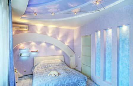Голубая спальня - фото