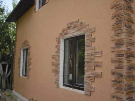 Отделка дома фасадной штукатуркой