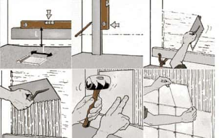 Как класть кафель в ванной + видео