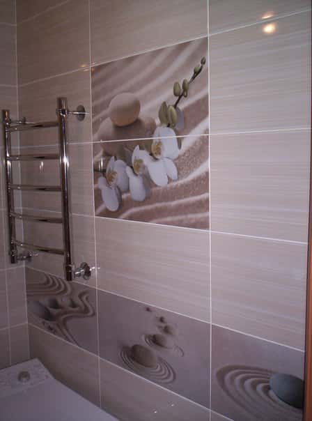 Современная плитка в интерьере ванной комнаты