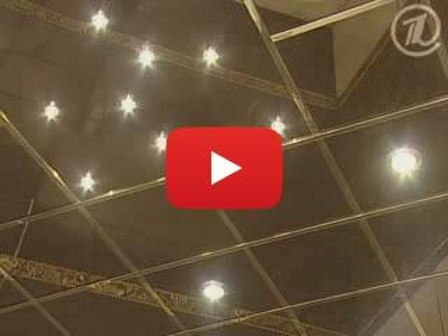 Монтаж зеркального подвесного потолка - видео