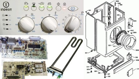 Неисправности стиральных машин Индезит