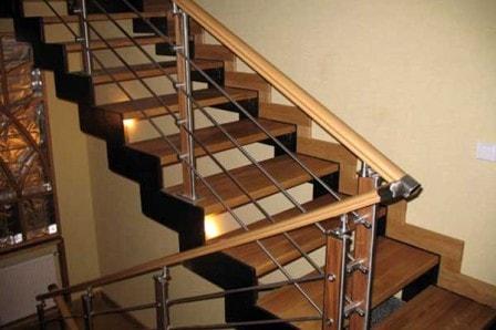 Конструкции лестниц в коттеджах