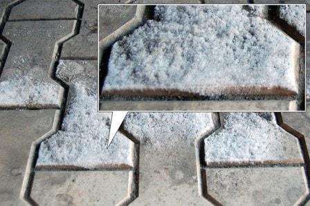 Как убрать высолы на тротуарной плитке