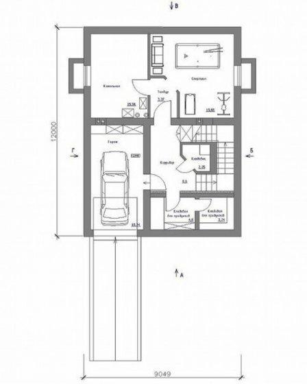 Проект бюджетного загородного дома «Просторный»
