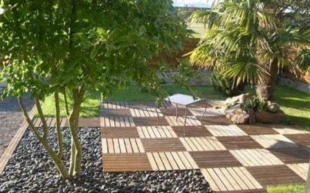 Садовый паркет - оригинальное решение для дорожек