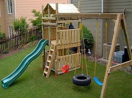 Обустройство детской игровой площадки