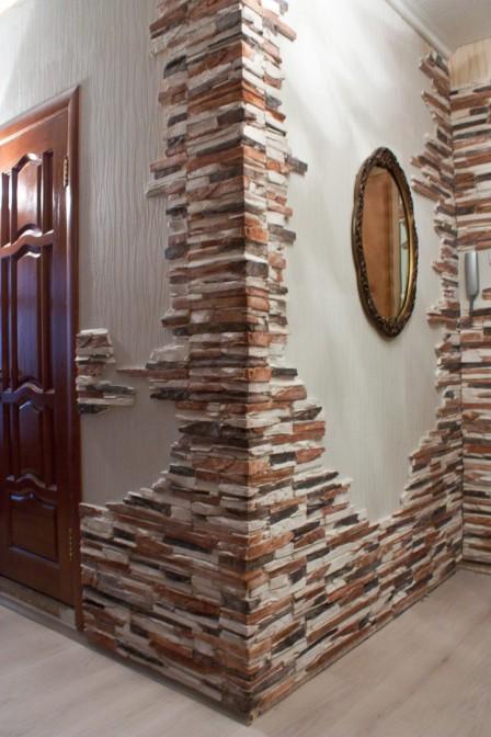 Искусственный декоративный камень для внутренней отделки
