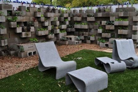Альтернативное использование бетонных блоков