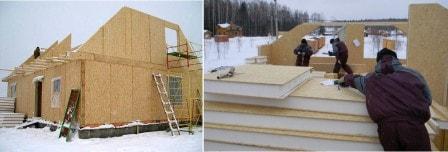 Возможно ли строительство каркасного дома зимой?