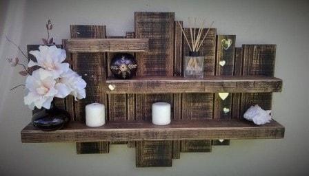Использование деревянных поддонов для декорирования интерьера