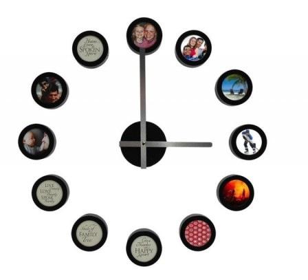 Часы из семейных фотографий своими руками