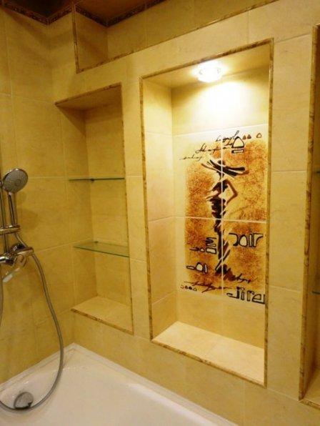 Оригинальный ремонт в ванной комнате