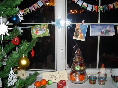 Украшение окон к Новому году - 33 идеи