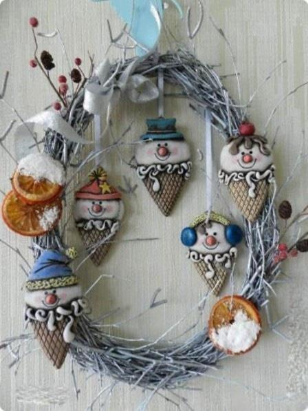 Новогодние поделки из соленого теста - декор своими руками