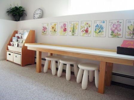 Развивающая детская комната по Монтессори