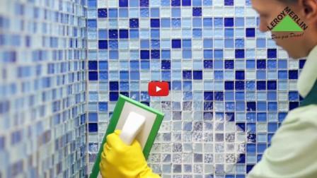 Укладка мозаики в ванной комнате своими руками - видео