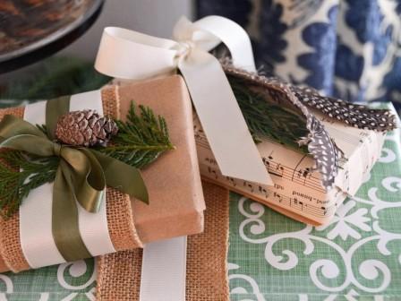 Красивое оформление новогодних подарков - 41 идея